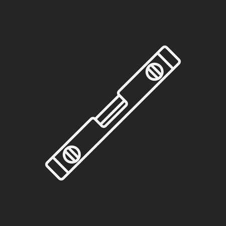 a level: Level line icon Illustration
