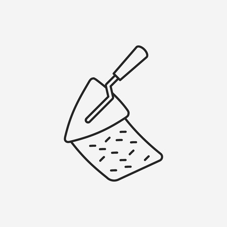 hand shovels: shovel line icon