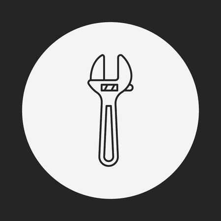 cocaine: Pliers line icon
