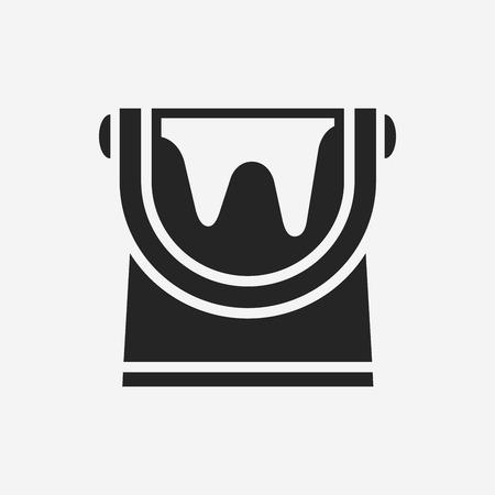 paint bucket: paint bucket icon Illustration