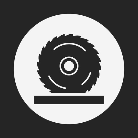circular saw: Circular Saw icon Illustration