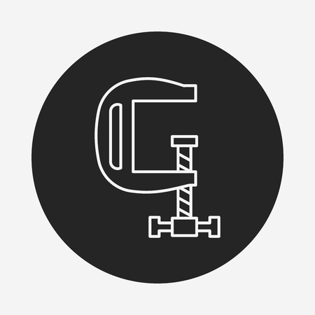 vice grip: clamp line icon