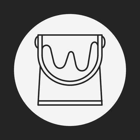 paint bucket: paint bucket line icon
