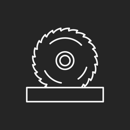 circular saw: Circular Saw line icon