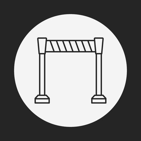 traffic barricade: Roadblocks line icon