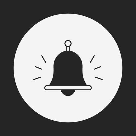 emergency attention: school bell icon Illustration