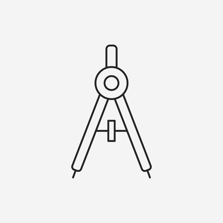 compasses: Stationery compasses line icon