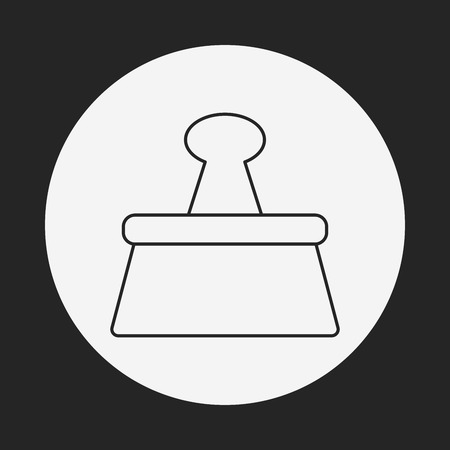바인더: Binder Clip line icon