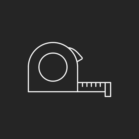 measuring tape: Measuring tape line icon Illustration