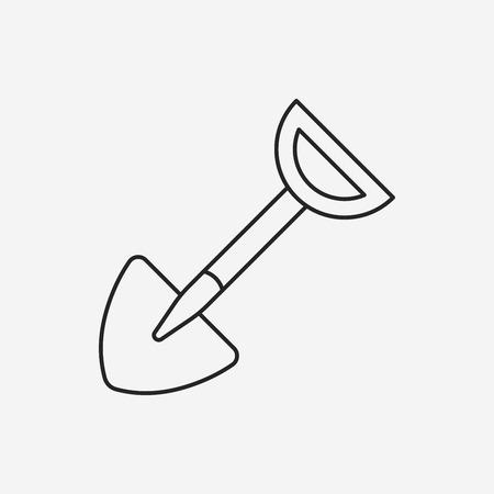 hoe: Hoe line icon Illustration