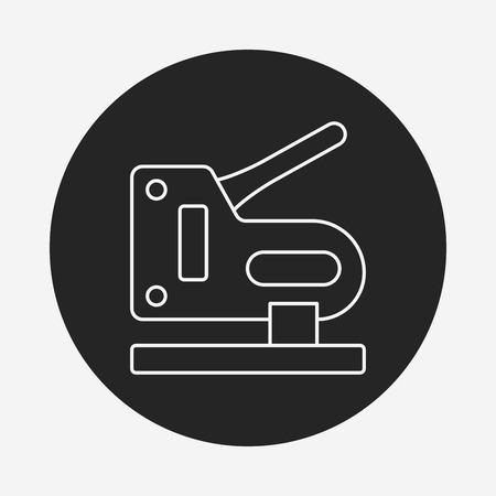 grapadora: Icono de l�nea de la grapadora