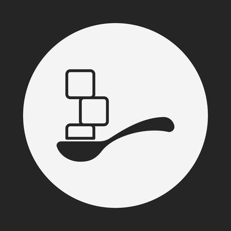 sweetener: sugar icon Illustration