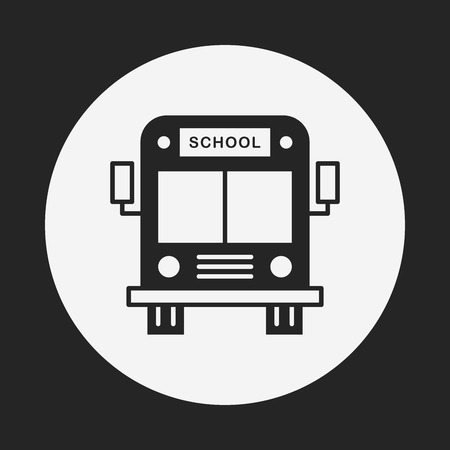 yellow schoolbus: school bus icon Illustration