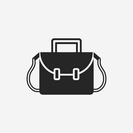 case studies: school bag icon Illustration