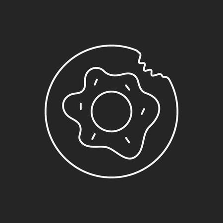 donut: donut line icon