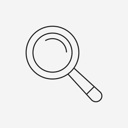 Magnifier line icon Illustration