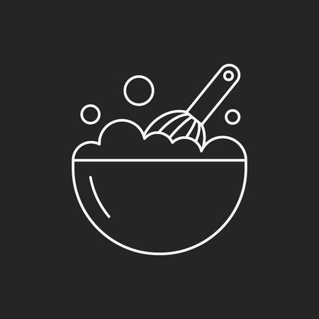 beater: beater line icon Illustration
