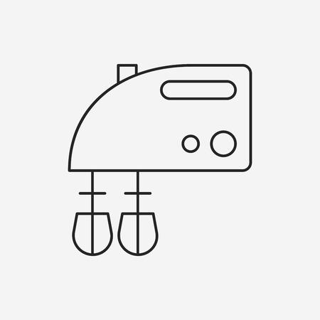 batidora: icono de l�nea batidor