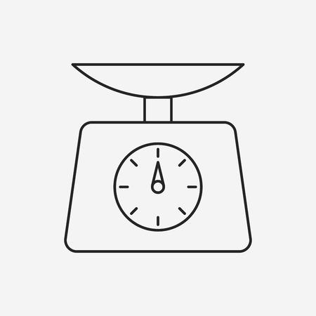 Weighing machine line icon Illustration