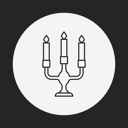 Candlestick line icon