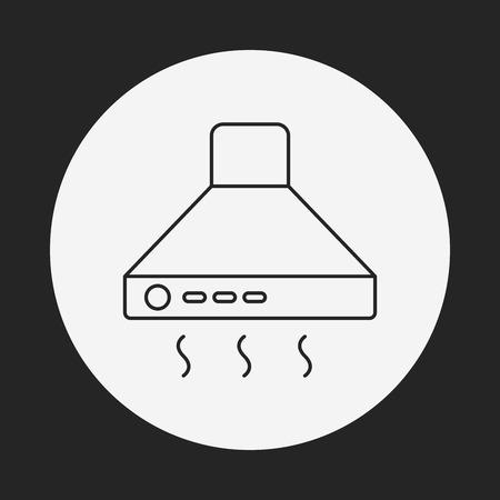 extractor: Cooker hoods line icon