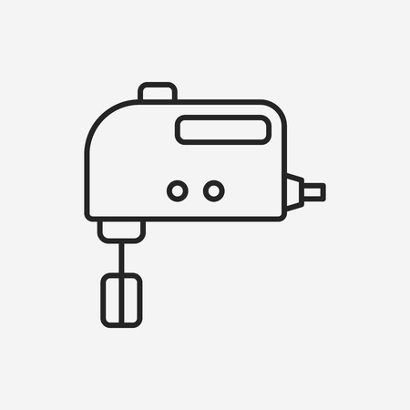 beater: beater line icon Illustration