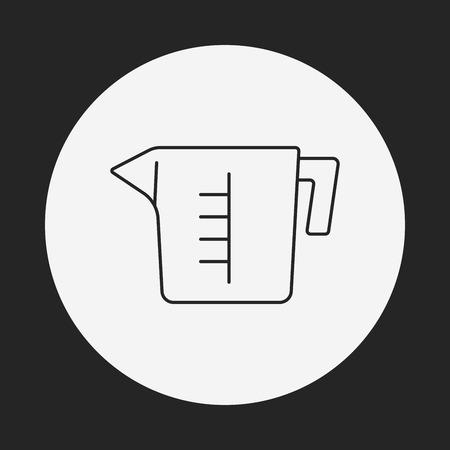 measuring cup: Measuring cup line icon Illustration