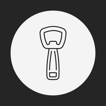 Bottle Opener Icon Bottle Opener Line Icon