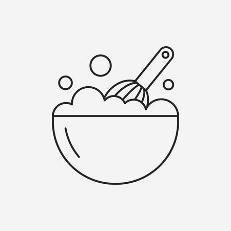 whip cream: beater line icon Illustration