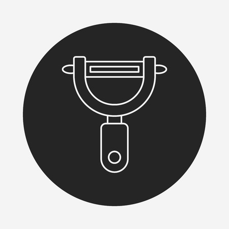 peeler: Peeler line icon