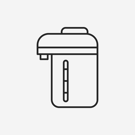 Electric kettle line icon