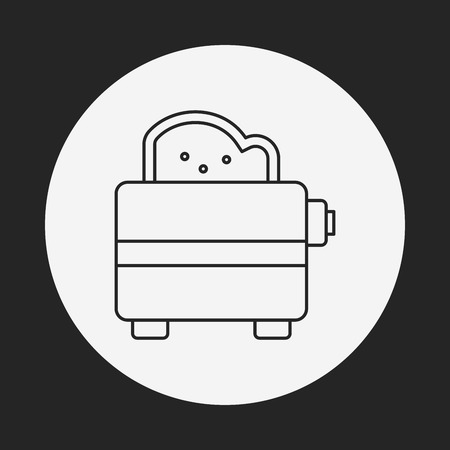 microwave ovens: toaster line icon