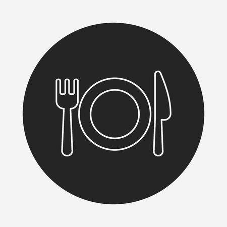 tableware line icon Illustration