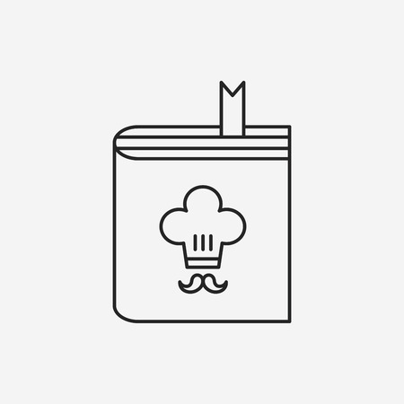 cooking book: cooking book line icon Illustration