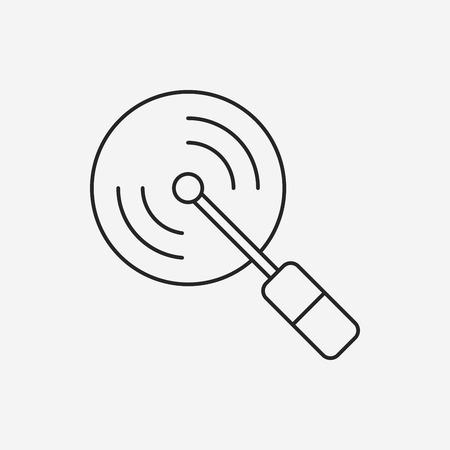 pizza cutter: pizza cutter line icon