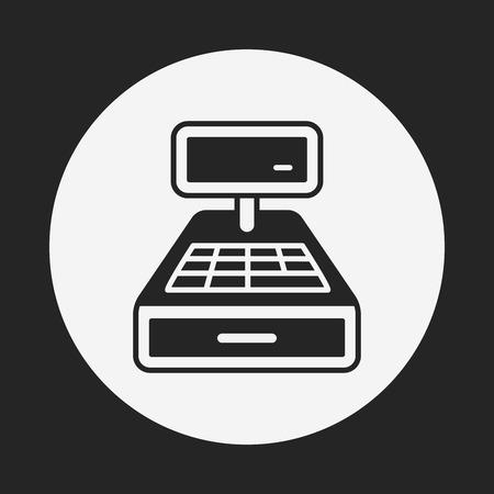 bank cart: Cash register icon