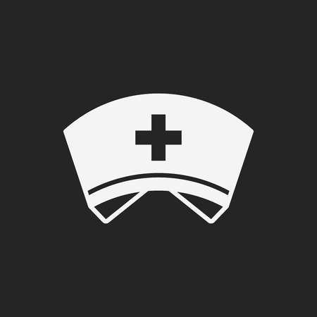 nursing uniforms: nurse hat icon