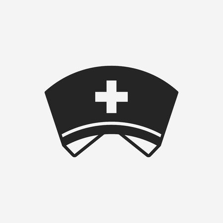 pielęgniarki: Pielęgniarka kapelusz ikona