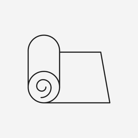 mat: Yoga Mat line icon