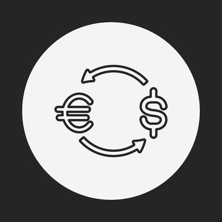 money exchange: money exchange line icon Illustration