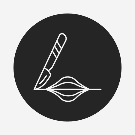 Scalpel line icon Vector