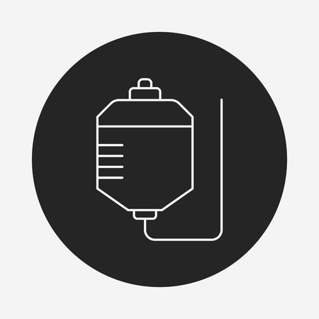 clinical laboratory: medical drip line icon