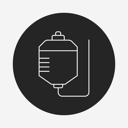 intravenous: medical drip line icon