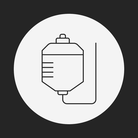 drip: medical drip line icon