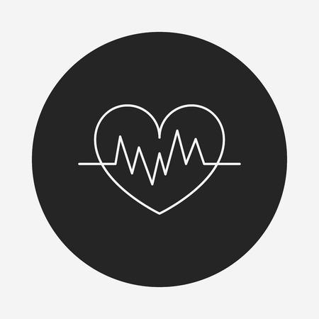 ecg: ECG line icon