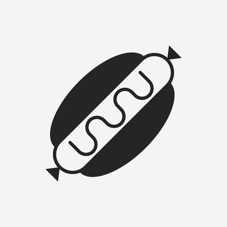 hot dog sausage icon Vector