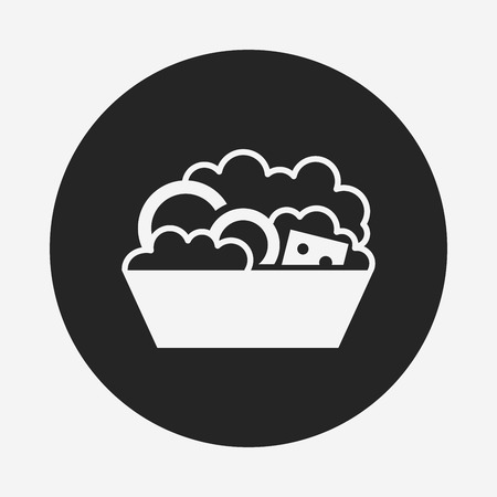 soup and salad: salad icon