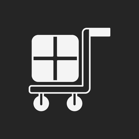 relocate: barrow icon Illustration