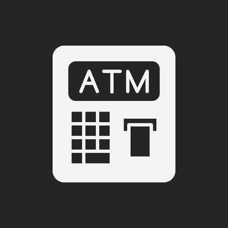 withdraw: ATM icon Illustration