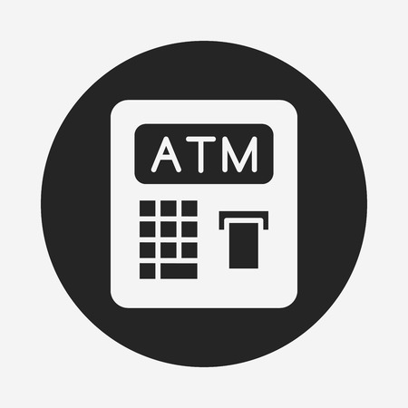 withdraw: ATM icon Illustration